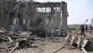 Siverekte dükkan inşaatı çöktü: 3 yaralı