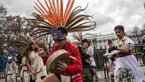 Washingtonda yerlilerin petrol boru hattı protestosu