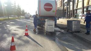Altınordu'da çöp konteynerleri temizleniyor
