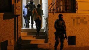 İstanbulda eş zamanlı polis operasyonu
