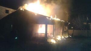 Karakoyunluda ev yandı: 1 yaralı