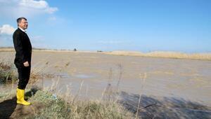 Silifkede 109 dönüm tarım arazisi sular altında kaldı