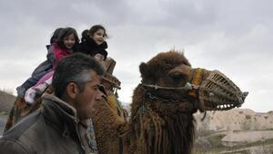 Soğuk hava, Kapadokyadaki develeri de üşüttü