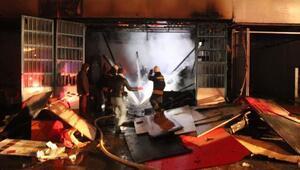 Mobilya atölyesinde alev alev yandı: 1 ölü