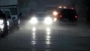 5 dakikalık yağmur Cizrede etkili oldu