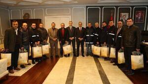 Başkan Tekintaş gazete dağıtıcılarını ağırladı