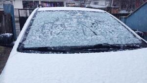 Hendekte kar yağışı