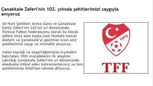 Spor camiasından Çanakkale Zaferi paylaşımları