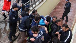 Sivasta amatör maçta olay çıktı