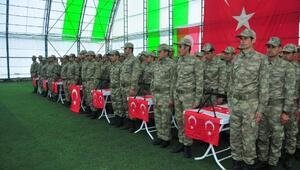 Derecikte 174 korucu Türkçe ve Kürtçe yeminle göreve başladı