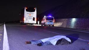 Yolcu otobüsünün çarptığı yaya öldü