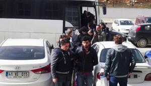 Kocaelide PKK operasyonunda 9 kişi adliyede