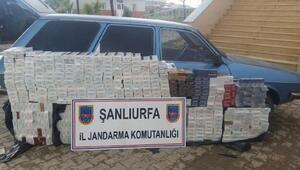 Akçakalede 6 bin paket kaçak sigaraya 2 gözaltı