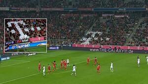 Bayern Münihin stadında dikkat çeken detay