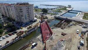 Tramvay için 150 tonluk çelik köprü