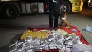 TIR sürücüsünün yatağından 115 kilo eroin çıktı