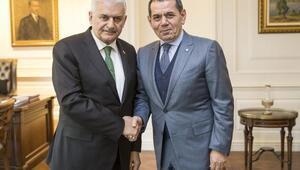 Başbakan Yıldırım, Galatasaray Başkanı Dursun Özbeki kabul etti