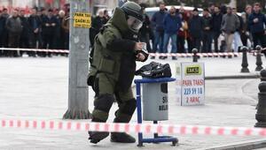 Çöp kutusuna bırakılan çanta bomba paniğine neden oldu