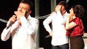 Ünlü oyuncunun gözyaşları