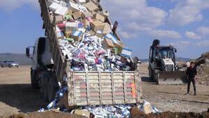 Uşakta 116 bin paket kaçak sigara imha edildi