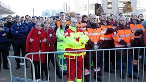 Belçika terör kurbanlarını andı