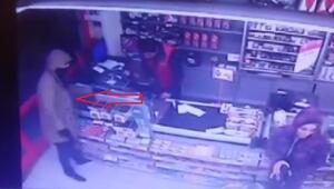 Esenyurttaki market soyguncuları güvenlik kamerasında