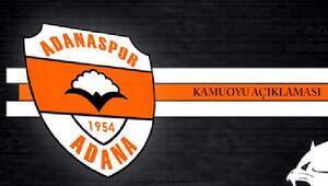 Adanaspordan suç duyurusu açıklaması