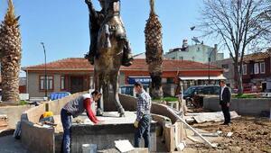 Bigada Adnan Menderes Parkı düzenleniyor