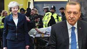 Erdoğan'dan İngiltere Başbakanı May'a taziye mektubu