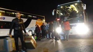 Bulgaristanda yolların kesilmesine rağmen Türkler gitmeye devam ediyor