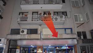 İzmirde propaganda tartışması: Saksı atıldı