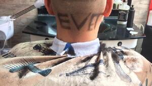 18 yaşındaki genç saçına evet yazısını kazıttı