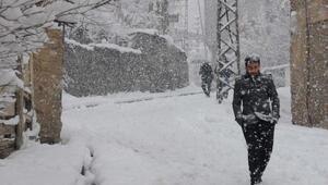 Hakkaride kar yolları kapattı