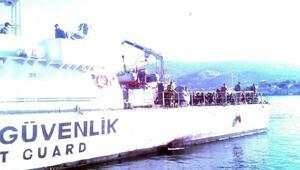 Foçada denizde 115 kaçak yakalandı