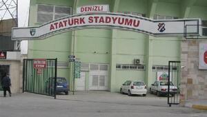 Erdoğana hazırlık için Denizli Atatürk Stadı tabelası söküldü (2)