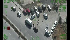 İstanbulda kurtkapanı 2 denetimi polis helikopteri kamerasına yansıdı