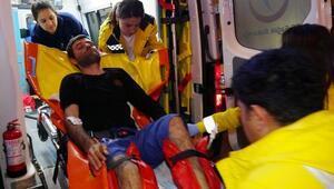 Firari mahkumu kırık bacakları yakalattı