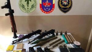 Mardinde PKKnın roket ve silahları ele geçirildi