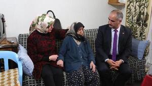 Başkan Aydından yaşlılara ziyaret