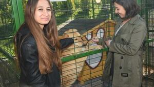 Hayvansever öğrencilerden ziyaret