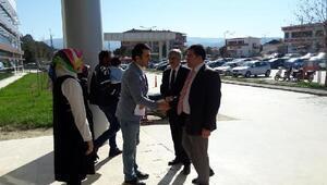 Osmancık Kaymakam Vekili, Devlet Hastanesini ziyaret etti