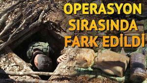 Operasyon sırasında bulundu.. Terör örgütünün barınaklarında..