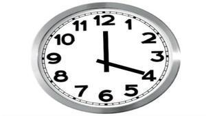 Saatler ileri alınmadı...