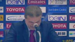 Suriye Teknik Direktörü dakikalarca ağladı