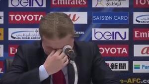 Suriye Teknik Direktörü hüngür hüngür ağladı...