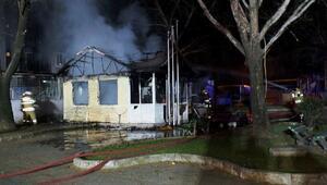 112 ambulans istasyonu yandı