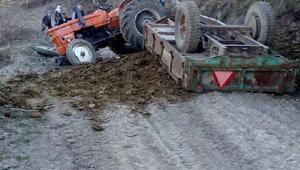 Hanife, devrilen traktörün altında öldü