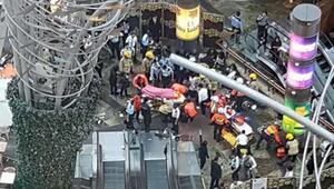 Yürüyen merdiven kazası: 18 yaralı
