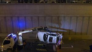 Ankarada otomobil köprüden düştü: 3 yaralı