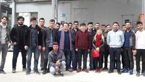 MYO öğrencilerine saha eğitimi